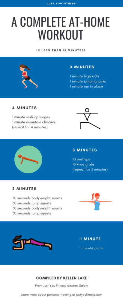 at home workout infographic